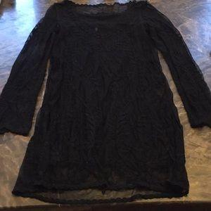 Black lace dress | H&M